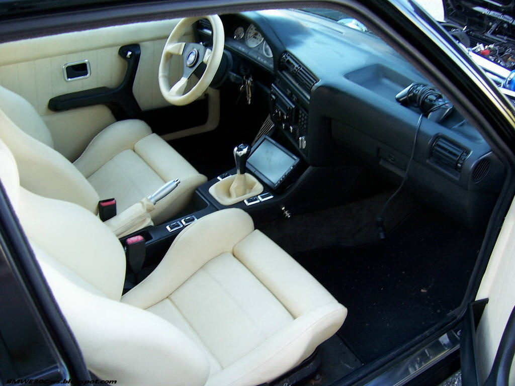 e30 white leather